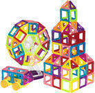 BCP 158-Pc. Kids Clear Magnetic Building Block Tiles Toy Set