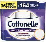 Cottonelle Ultra ComfortCare Toilet Paper 36-Mega Rolls