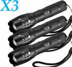 Ultrafire X800 CREE LED Flashlight 3-Pack