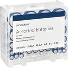 Insignia Assorted Batteries w/ Storage Box (33-Pack)