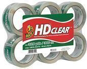 Duck HD Clear Heavy Duty Packing Tape Refill, 6 Rolls