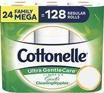 Cottonelle Ultra GentleCare Toilet Paper 24-Mega Rolls