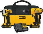 DEWALT 20V MAX Li-Ion Drill & Impact Driver Kit (DCK240C2)