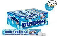 15 pack Mentos Chewy Mint Candy Roll, Mint