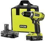 RYOBI 18 volt Lithium Crdls 1/2in. Compact Drill/Driver Kit