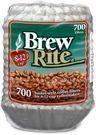 Brew Rite Coffee Filter-700 ct, 8-12 Cups, White