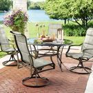 Statesville 5pc Padded Sling Patio Dining Set with 53 Top