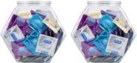 2-Pack 144ct Durex Ultra Fine Latex Fish Bowl Condoms