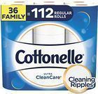 Cottonelle Ultra CleanCare Toilet Paper 36 Family Rolls