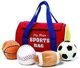 GUND Baby My First Sports Bag Stuffed Plush Playset, 5 Pc
