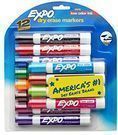 EXPO Low Odor Dry Erase Markers Chisel Tip, Asst Colors