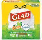 100-Count of Glad Tall Kitchen Drawstring Trash Bags