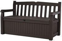 Keter Eden 70 Gallon Storage Bench Deck Box, Brown/Brown