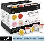 Bestpresso Coffee Single Serve K-Cup 96-Count Variety Pack