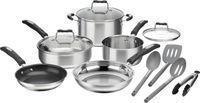 Cuisinart 12-Piece Cookware Set, Stainless Steel