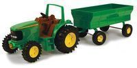 John Deere Toy Tractor Set 8 Tractor with Flarebox Wagon