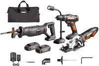 WORX Combo Kit (2 Saws, Drill, LED light)