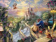 Thomas Kinkade: Beauty and The Beast Falling in Love Puzzle